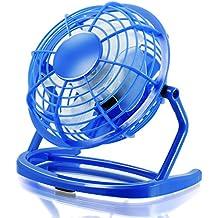CSL - USB Ventilador | mini ventilador de mesa / fan | PC / portátil | en azul