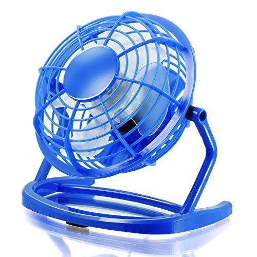 CSL - Mini Ventilateur USB | Mini ventilateur de bureau / Fan | pour ordinateur / ordinateur portable | bleu