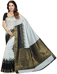 Ishin Bhagalpuri Art Silk White & Black Party Wear Wedding Wear Casual Daily Wear Festive Wear Bollywood New Collection...