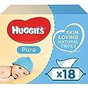 Huggies Pure Baby Wipes - 18 Pack (56 Wipes Per Pack, 1008 Wipes Total)