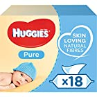 Huggies Pure Baby Wipes - 18 Pack (56 Wipes Per Pack, 1008 Wipes Total)