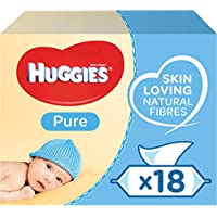 Huggies Pure Baby Wipes, 18 Packs (1008 Wipes Total)