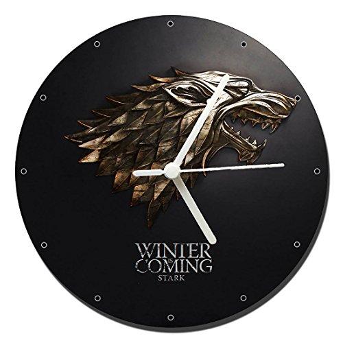 MasTazas Juego De Tronos Game of Thrones Stark Reloj de Pared Wall Clo