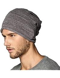 Kenmont d'hiver en tricot pour homme 100%  coton-Bonnet de Ski Slouch Bonnet