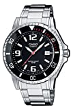 Casio Herren Analog Quarz mit Edelstahl Armbanduhr MTD1053D1AVEF