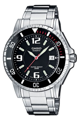Casio Men's Analogue Quartz Watch with Stainless Steel Bracelet MTD-1053D-1AVEF
