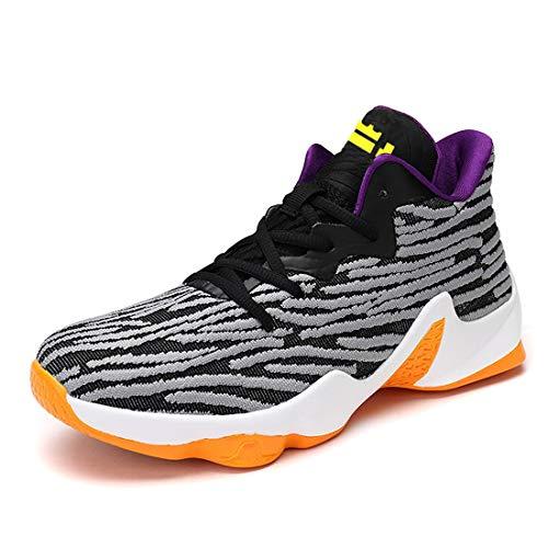 brand new cff26 d39b8 Hommes Femmes Couple Active Basketball Sneakers Ultra Léger Unisexe Flyknit  Randonnée Gym Chaussures De Course Noir