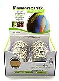SPOL Kinematics Tex - Elastic Kinesiology Tape for Support & Healing Cotton Adhesive Tape - 6Rolls Set - 2(Inch) x 16.4(Feet) -Beige Tattoo