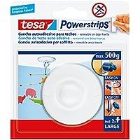 TESA 58029-00021-01 58029-00021-01-Gancho Techo Blanco Powerstrips hasta 1 kg, Standard