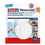 Tesa 58029-00021-01 Deckenhaken, Weiß, mit 2 großen Streifen