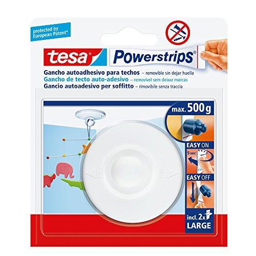 tesa-powerstrips-pack-de-gancho-a-techo-color-blanco-2-tiras-grandes