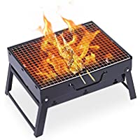Uten Barbecue Grill, Portable Charcoal Barbecue Table Camping Outdoor Garden Grill BBQ Utensil