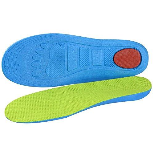SOUMIT Kinder Einlegesohlen | Gesund Orthopädisch PU Schuhe Pad mit Dämpfung Silikon-Gel Heel Kissen für Freizeit Sport Laufen Fußball, Schützen Sie Ihre Füße (XL EU32-35, Länge: 23,3CM)