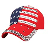 LiucheHD Cappello Baseball Hip Hop Moda unisex con bandiera americana  Cappellino casual di diamanti Cappello da 047d99e8f90f