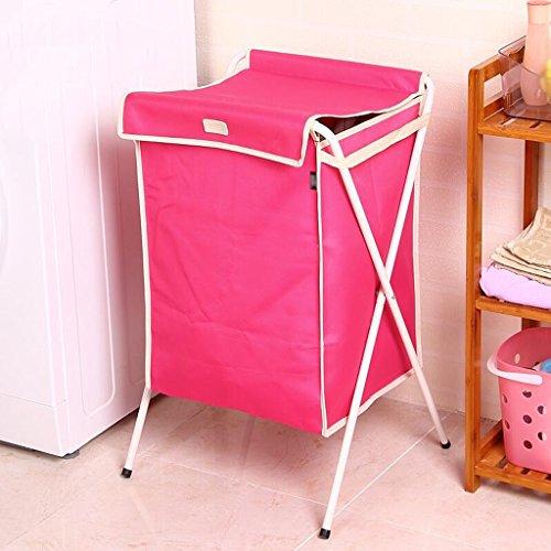 Rouge couvert avec le panier sale de panier sale panier sale panier (35 * 32 * 48cm) sac de rangement Rollsnownow