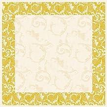 1 Tischdecke Romantic in Gold aus Linclass® Airlaid 80x80cm Einweg Mitteldecke