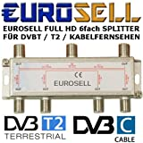 Digitaler 6-fach SAT Antennen Kabel TV BK Verteiler Splitter HDTV