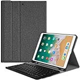"""FINTIE Keyboard Case for iPad Air 2019 (3rd Generation) / iPad Pro 10.5"""" 2017 - SlimShell Protective Cover with Built-in Pencil Holder Magnetically Detachable Wireless Bluetooth Keyboard, Grey"""