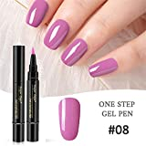 Watopi Nail One Step Vernis à ongles Forme de stylo Nail Art Colle 18 Couleur
