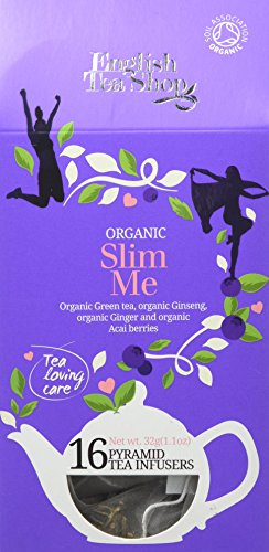 English Tea Shop Organic Slim Me Cathedral Pyramid Tea Bags, 16-Count