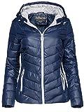 Trisens Damen ÜBERGANGSJACKE KURZ LEICHTE Jacke FRÜHLINGSJACKE Windbreaker, Farbe:Dunkelblau, Größe:M