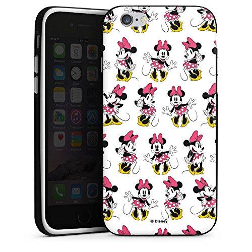 Apple iPhone X Silikon Hülle Case Schutzhülle Disney Minnie Mouse Merchandise Geschenke Silikon Case schwarz / weiß