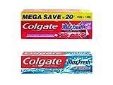 #9: Colgate Icy Spicy Blast Maxfresh Toothpaste Combo Red Gel - 300 g, Blue Gel - 150 g