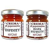 2 Creme INFINITY + DARK INFINITY piccante persistente ESTREMO crema peperoncino KIT 60g totali