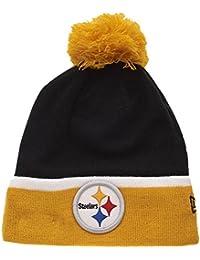 New Era - Bonnet Homme Pittsburgh Steelers Team Cuff Bobb - Black / Yellow