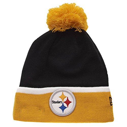 New Era - Bonnet Homme Pittsburgh Steelers Team Cuff Bobb - Black/Yellow