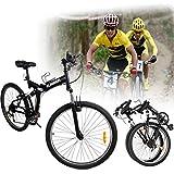 Ridgeyard 26' Faltung faltbares Fahrrad Fahrrad vorne und Handbremsen 7-Speed Schaltwerk
