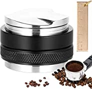 Perkisboby 51mm Coffee Distributor & Tamper, Dual Head Coffee Leveler Fits with Measure Gauge for 51mm Bre