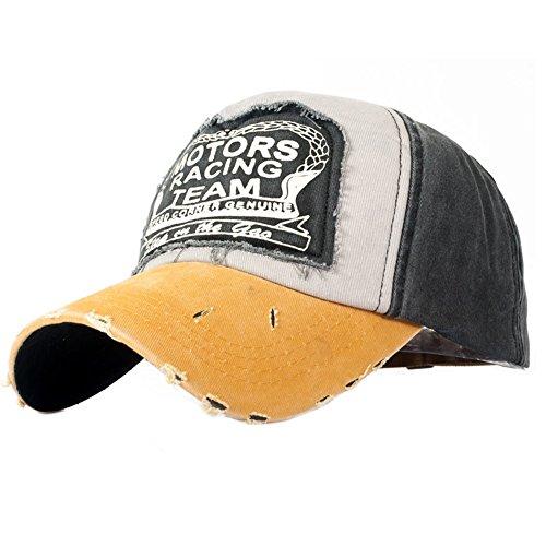 c5d15feeb33b UMIPUBO Gorras Beisbol Deportes Unisex Adjustable al Aire Libre Cap clásico  algodón Sombrero Motocicleta Gorras de béisbol (Amarillo)