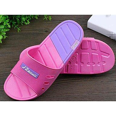 Slippers & amp da uomo;Comodità coppie scarpe di gomma di primavera casual Blushing Rosa Grigio Nero Piatto, sandali Blushing Pink