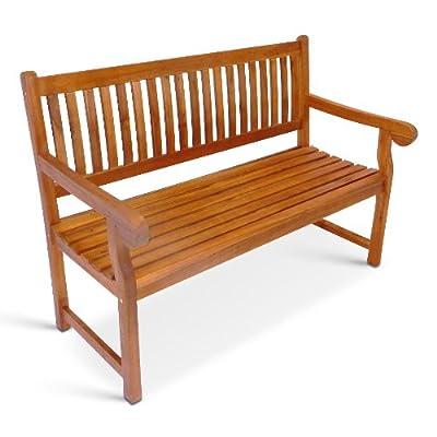 SAM® Akazienholz Gartenbank Sitzbank Classic 2 Sitzer 130 cm