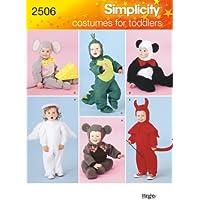 Simplicity A 2506 - Patrones de costura para disfraces de niños (tallas 1/2, 1, 2, 3, 4)