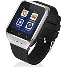 ZGPAX S8 Android 4.4 Dual Core Smart Watch Phone,1.54inch LG Multi-point Touch Screen,3G WCDMA,Bluetooth 4.0,Bulit-in GPS,2M Camera (Plata)