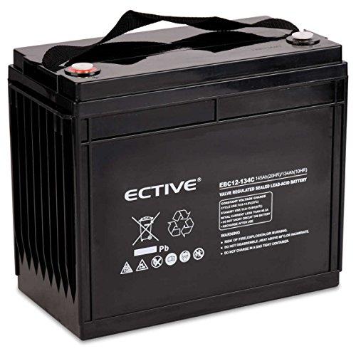 ECTIVE Bleiakku 12V 145Ah Zyklenfeste AGM Batterie Blei Akku EBC-Serie 13 Varianten: 25Ah - 280Ah (wartungsfrei)
