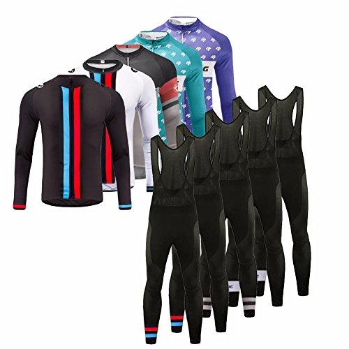 Uglyfrog 2017 Winter Thermisches Langärmelig Fahrradtrikot Bike Jersey + Lange Hosen atmungsaktiv Reiten Jacke Hose für Outdoor Radfahren ZRHB02
