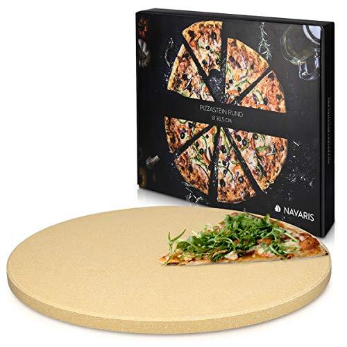 Navaris Piedra para pizza de cordierita - Piedra para horno redonda para...