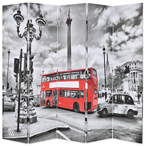 binzhoueushopping Paravientos Plegable 200x 180cm impresión Bus L