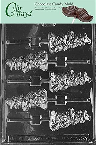 Cybrtrayd H053 Halloween Chocolate Candy Mold, Witch Broom Lolly