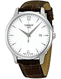 Tissot Tradition T0636101603700 42 Stainless Steel Case Brown Leather Men's Watch