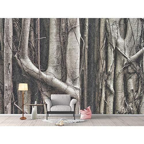 Fototapete 3d effekt Home Hotel Dekor Tapeten Natur Big Tree Root Fototapete Wandbild 3D Wohnzimmer Schlafzimmer Selbstklebende Vinyl/Seide Tapete-400X280CM -
