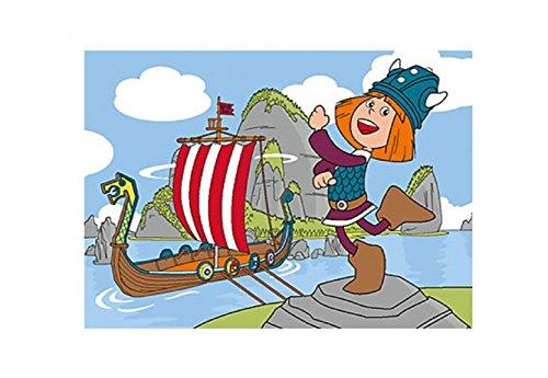 Kinder Teppich Kinderteppich mit Wickie / Wickie und die starken Männer / Piratenschiff / Teppich /...