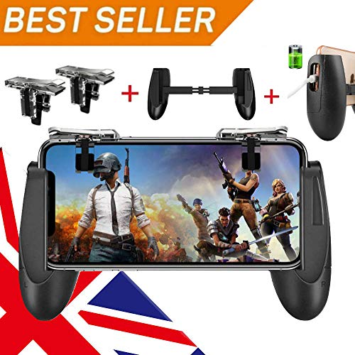 Fortnite Pubg mobile controller - Svzioog mobile Game controller (1PAIR + 1GAMEPAD), il cellulare Game Trigger mobile Gaming joystick per Android iOS Fortnite PUBG Mobile Triggers 2