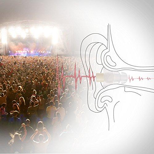 3 Paar Schlafende Ohrstöpsel/Akustische Ohrstöpsel/Geräuschreduzierung Ohrstöpsel mit 33dB Höchste NRR, Komfortable Gehörschutz zum Arbeiten, Studieren, Schlafen, Partys und Konzerte, von AGPTEK - 2
