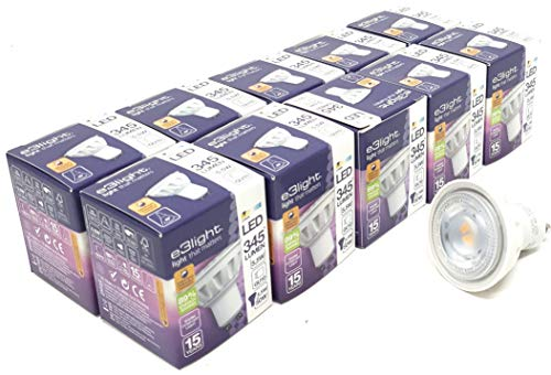 Paquete de 10 bombillas LED GU10 de intensidad regulable (5,5 W =...