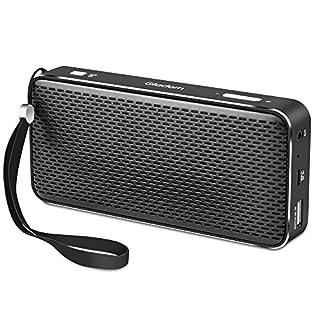 Gladorn Tragbare Bluetooth Lautsprecher mit 2500mAh Power Bank Rechargable Batterie, 20-Stunden-Spielzeit, Dual-Treiber Wireless Speaker mit HD Audio und erweiterten Bass, eingebaute Mikrofon Freisprechanlagen Works für MP3, MP4, Tablet, PC, IOS and Android Smartphone(schwarz)