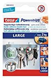 tesa UK Ltd 58000-00104-02 Powerstrips Large Removable Self Adhesive Strips - 10 Strips